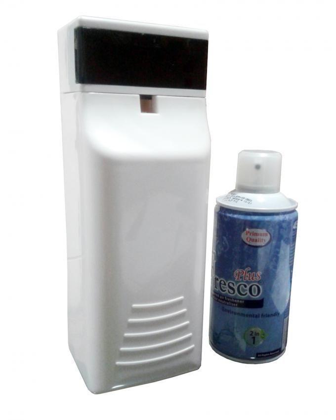 Fragrance Dispenser with Freshener Can - White