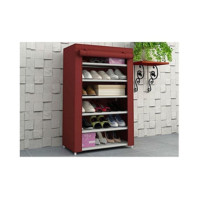 Shoe Rack Wardrobe 6 Layers Shelf Stand E Saving