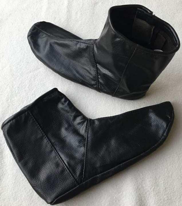 Mozay - Leather Socks - Black - Unisex - Hajj & Umrah