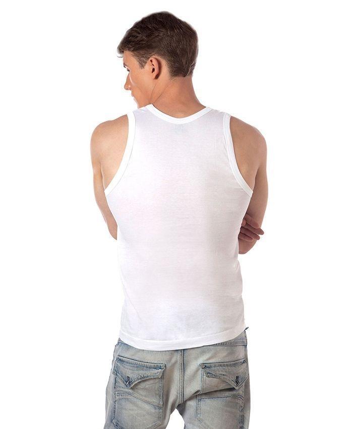 White Cotton Vest for Men - MV-005