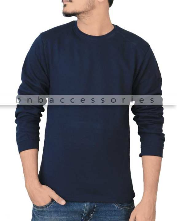 Plain Sweatshirt In Navy Blue