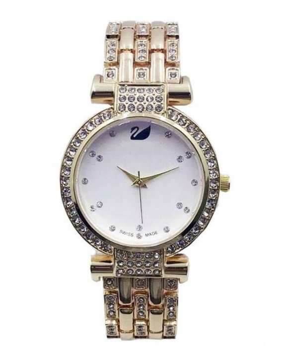 Golden Alloy Analog Watch for Women