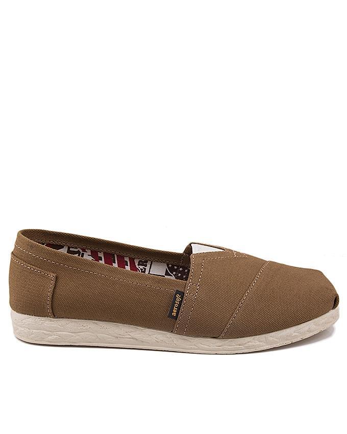 Brown Denim Slip-Ons for Women