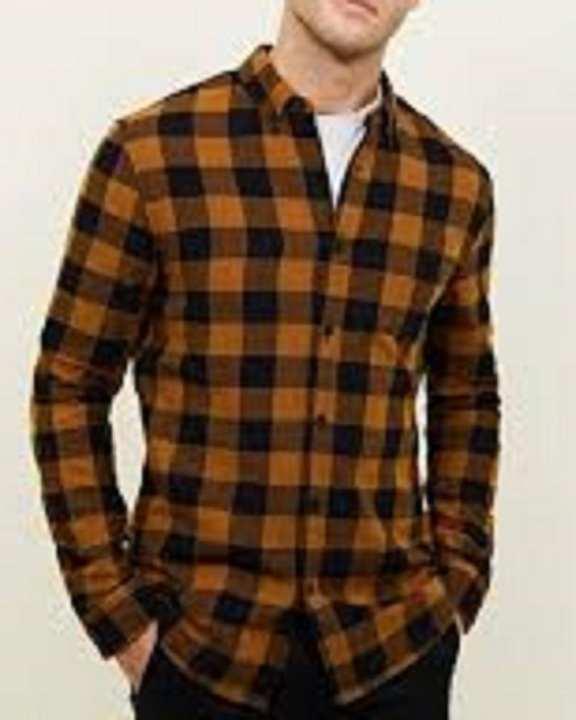 Brown & Black Check Casual / Fancy Cotton Shirt For Men'S