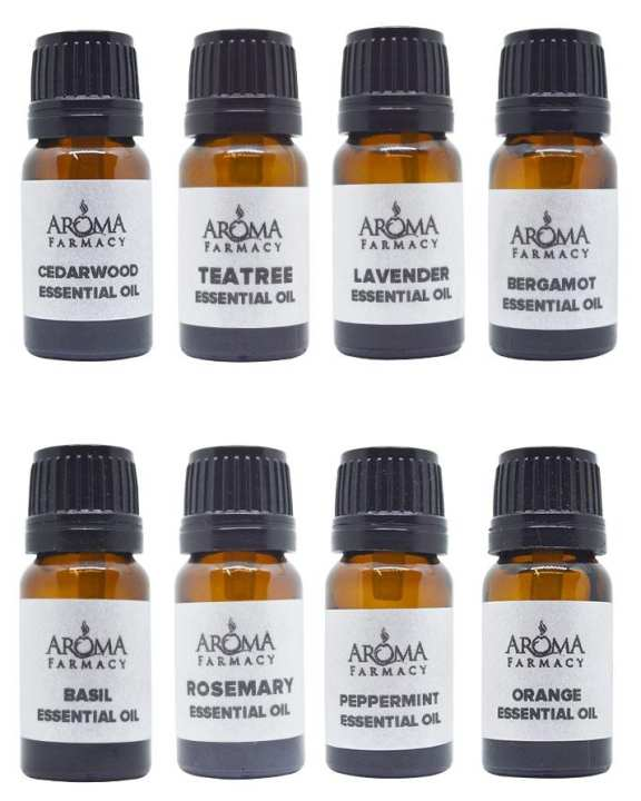 Set of 8 essential oil - 10 ml each 100% Pure & Natural