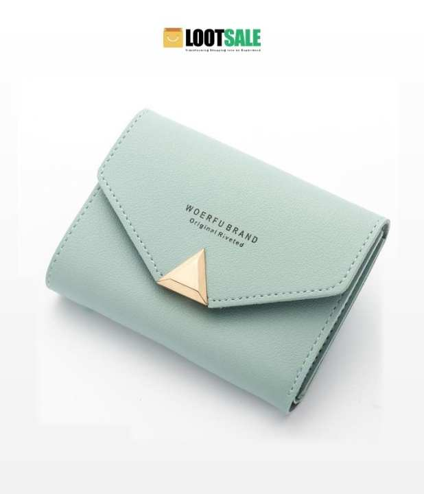 Light Green Pu Leather Clutch Bag For Women
