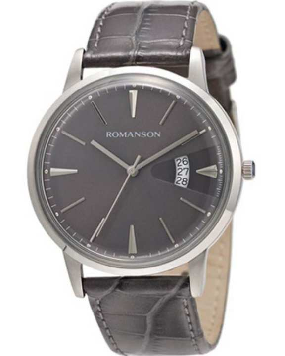 Romanson Grey Wrist Watch for Men - TL4201 MW GR