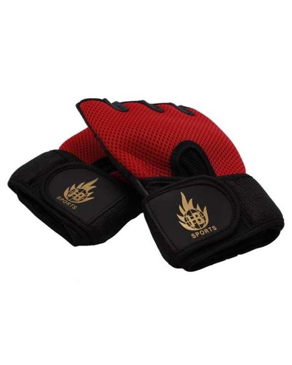 Sports Gym Gloves - Black & Red