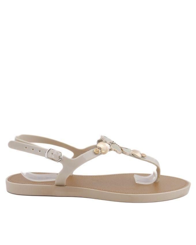 Cream Imported Italian Design Fancy Sandal for Women - C06
