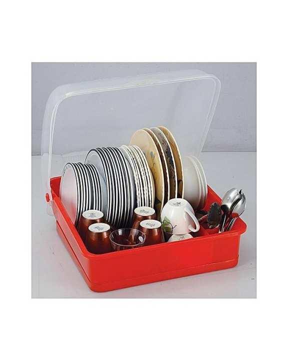 Royal Plastic Kitchen Rack - Plastic - Red