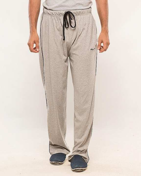 Heather Grey Cotton Jersey Trouser