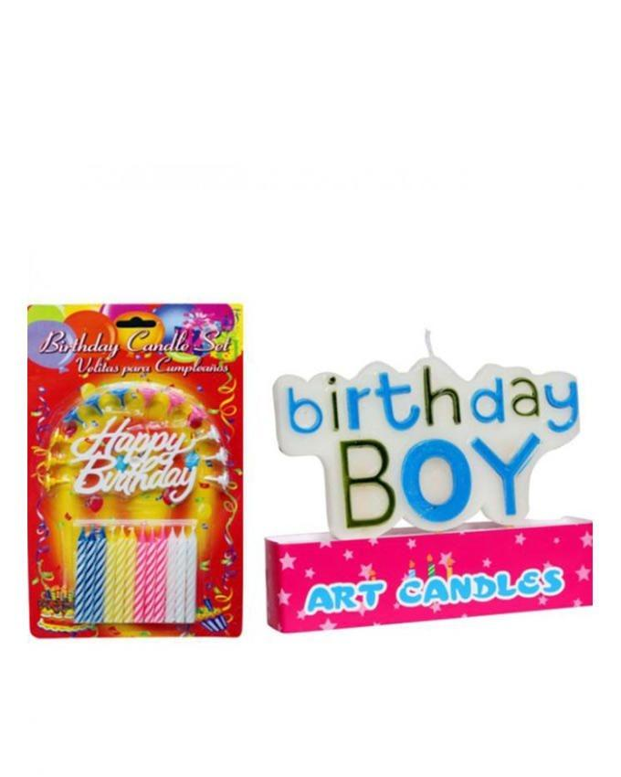 Pack of 2 - 09 - Happy Birthday Candles - Multicolor