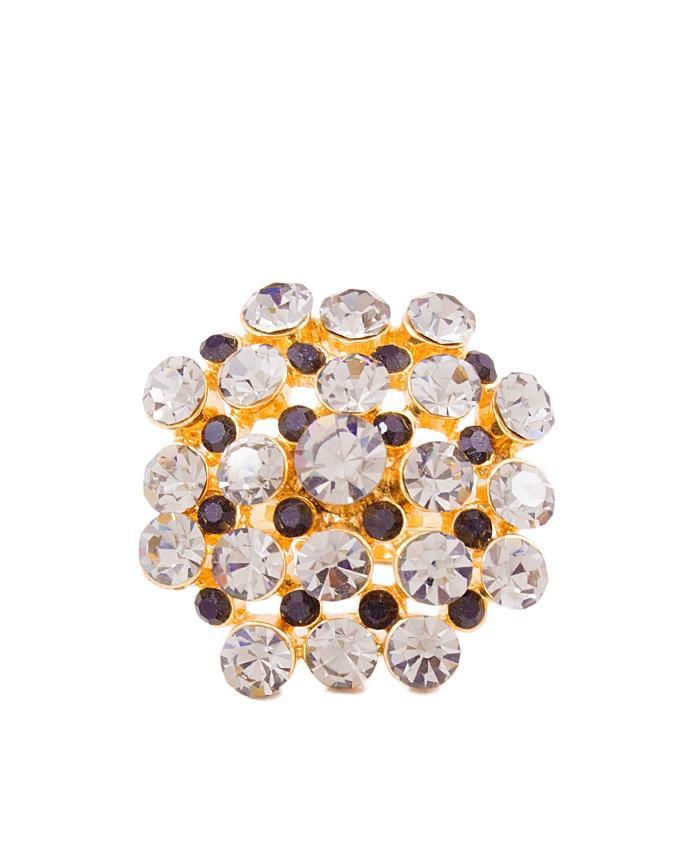 Grey Zircon Flower Ring
