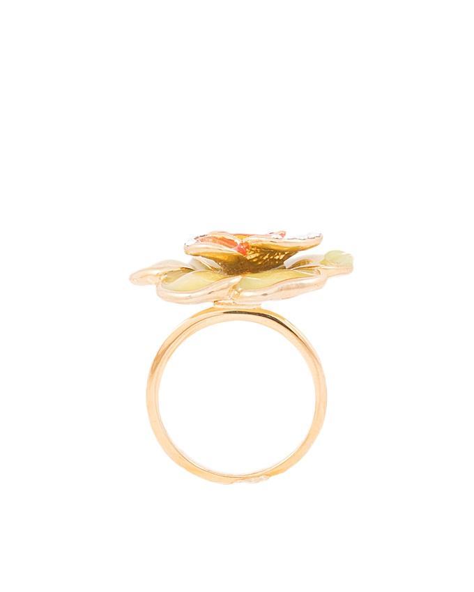 Flower Enamel Ring