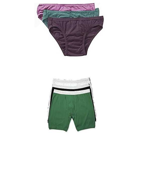 Pack of 6 - Multicolor Cotton Boxer & Brief Innerwear for Men