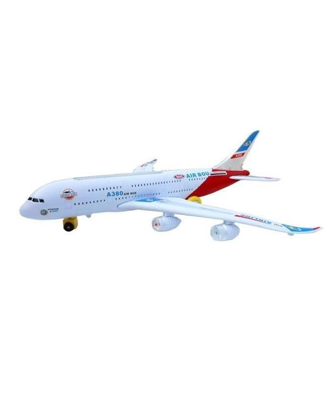 Emirates Airline A380 Plane - White & Red