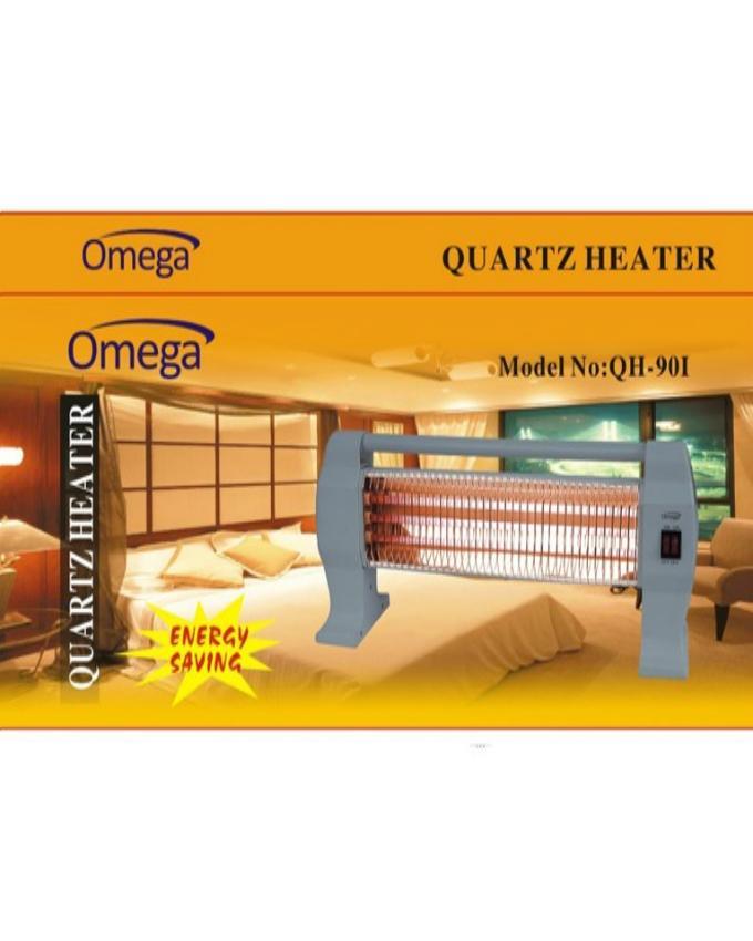 Electric Quartz Heater - 1200W - Grey