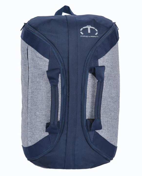 Duffel Travelling Bag - Blue & Grey