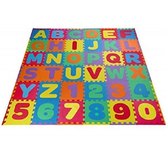 ABC & 123 Puzzle Foam Floor Mat for kids 14cm x 14cm