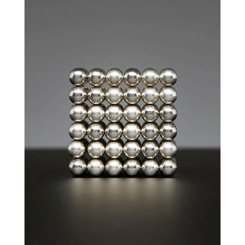 Premium Magnetic Bucky Balls - 216 Pieces - 5mm - Silver