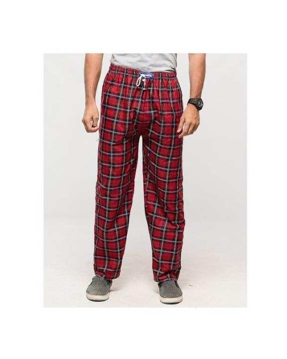 Multicolour Checkered Cotton Pajamas For Men