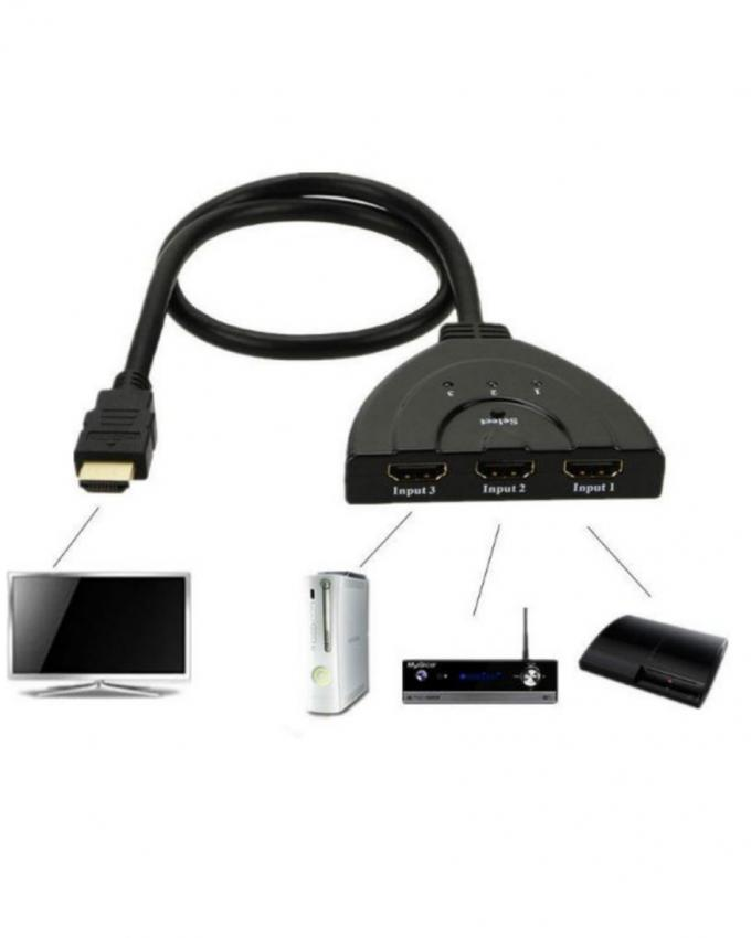 3-in-1 - HDMI Adapter - Black