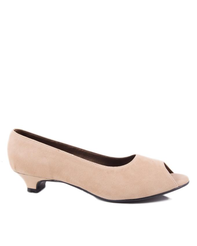Fawn Synthetic Leather Pumps for Women - 4045/6 - US Size