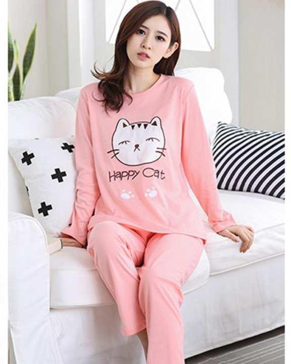 Rex Bazar - light pink happy cat night suit  RX308