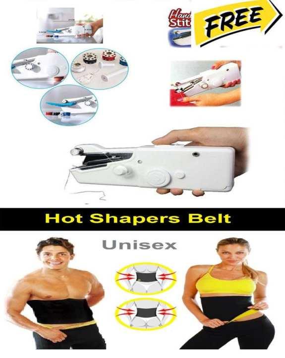 Mini Handy Stich Machine - White - & Hot Shaper Belt Free - Click One