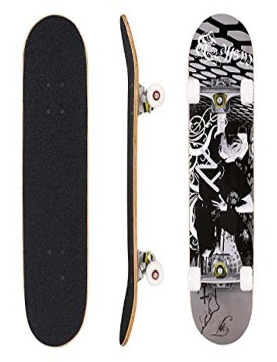 "Large Wooden 4 Wheeler Skateboard - 24"" x 6"""
