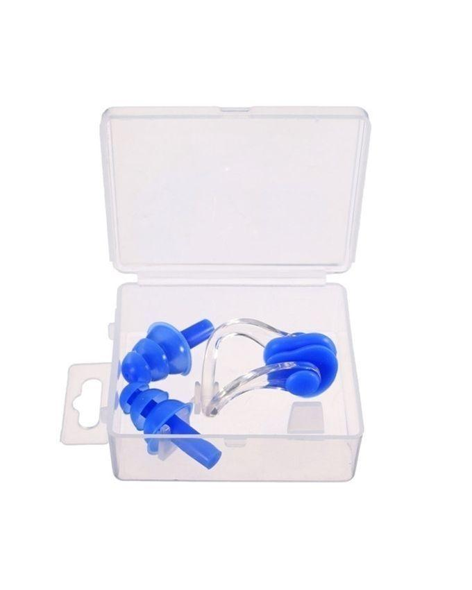 Swimming Ear Plugs With Nose Clip - Blue