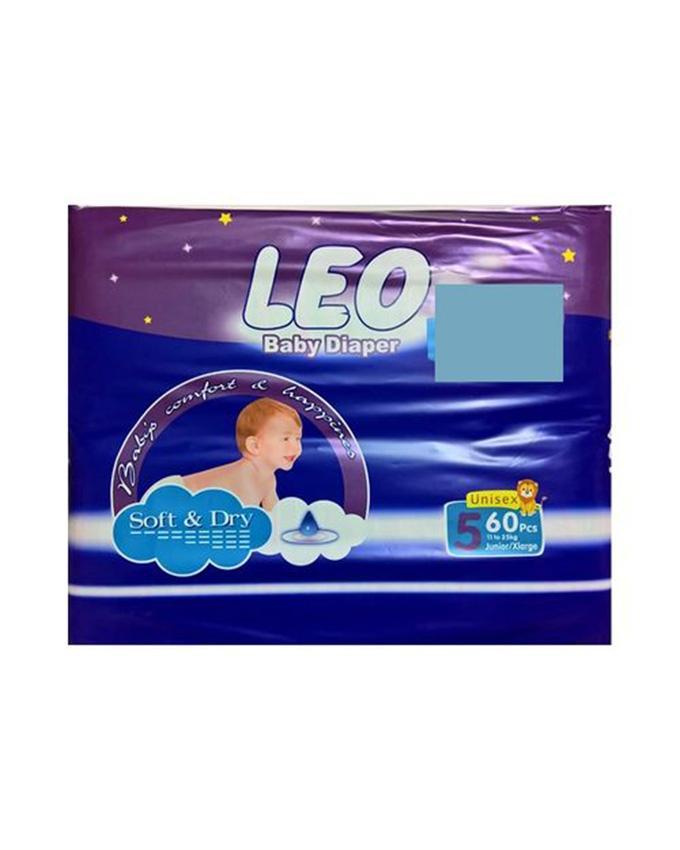 LEO Mega Size 5 Diapers - 60 Pcs