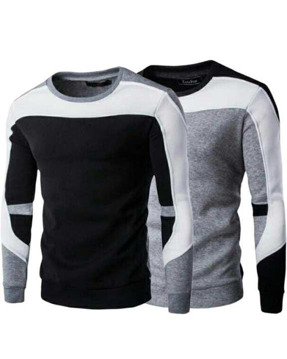 Pack Of 2 - Multicolor Fleece SweaT-Shirt For Men
