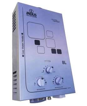Indus Instant Gas Geyser - 8-Liter - White