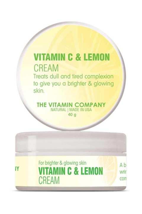 Vitamin C & Lemon Cream - American Natural Brightening Skin Care