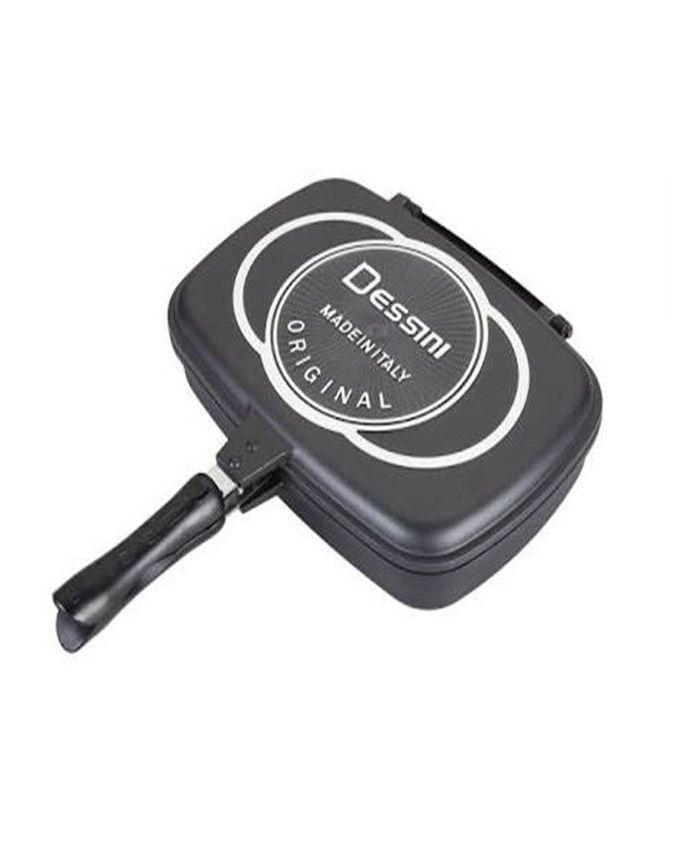 Double Sided Grill Pan - Black