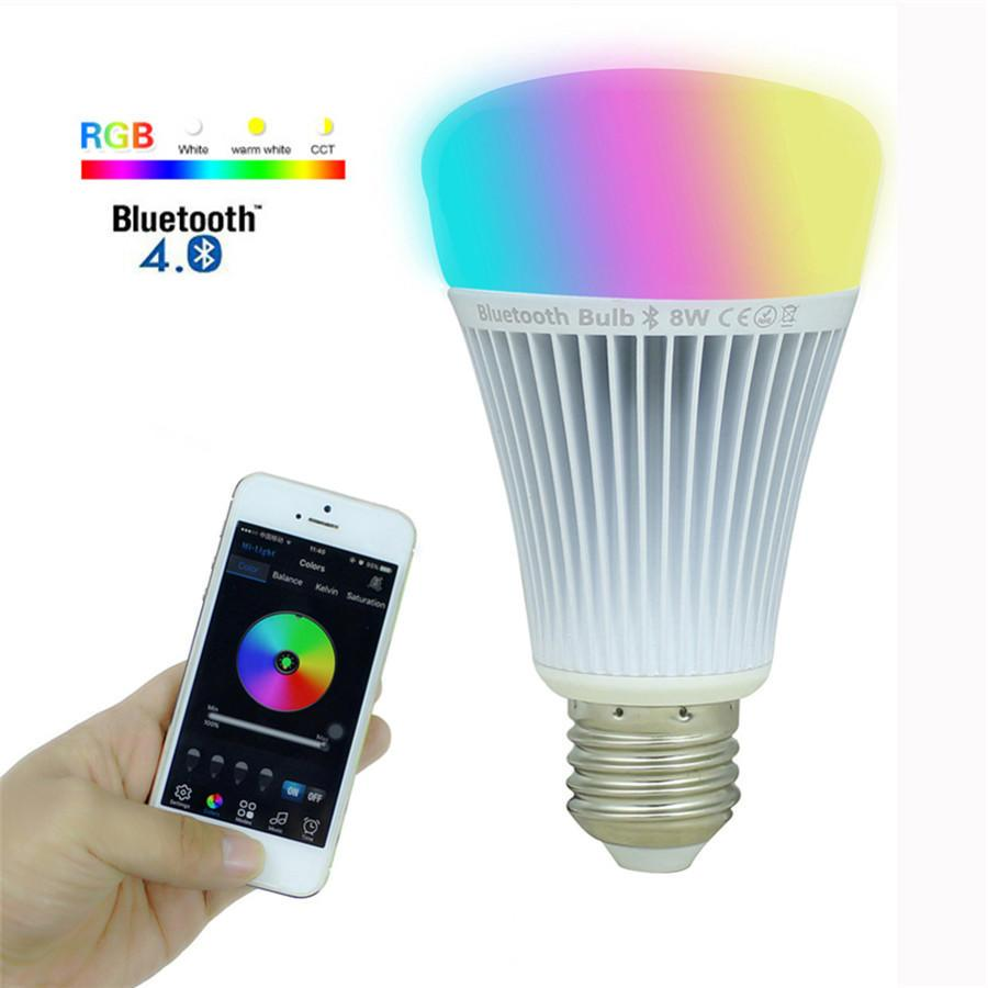 8 Watt - Milight Smart Phone App - Remote Control Bluetooth LED Bulb - 1  Million Colors