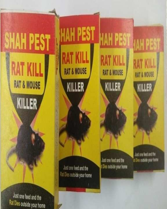 Pack Of 4 Rat Kill Wheat Coated Bait