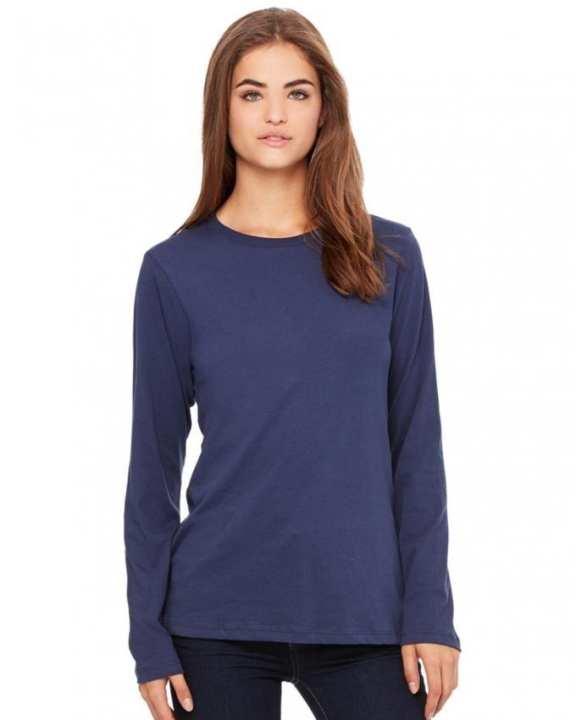 Navy Blue Cotton T-Shirt For Women