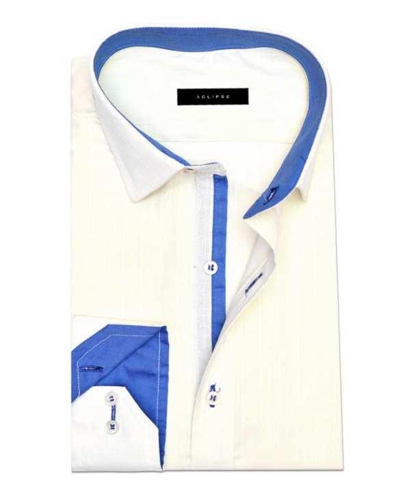 ACLISPE - Light Lemon Cotton Formal Shirt for Men
