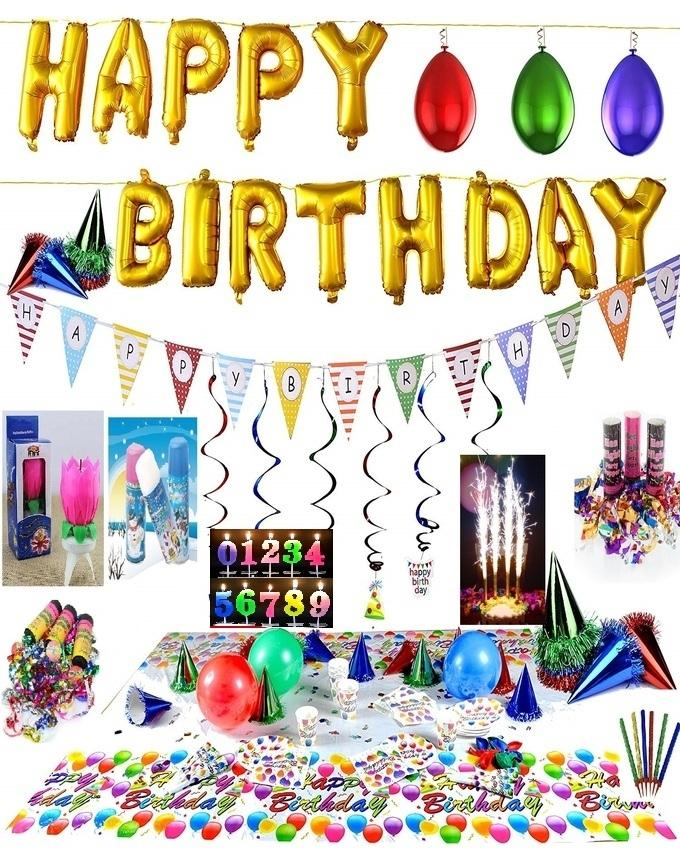 Happy Birthday Decorations Party Supplies Set Over 100 Pc All In One