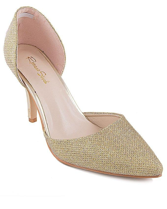 Gld-Gld Synthetic Leather Rscreed Heel