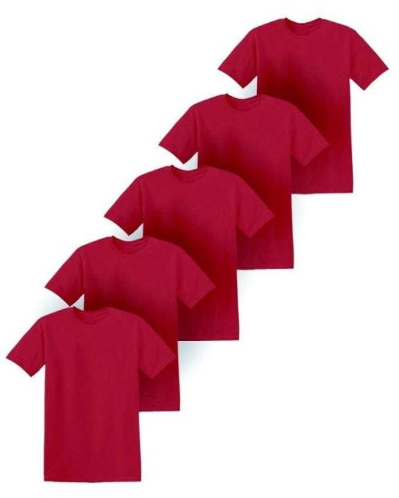 Pack of 5 - Maroon Cotton T-Shirt For Men