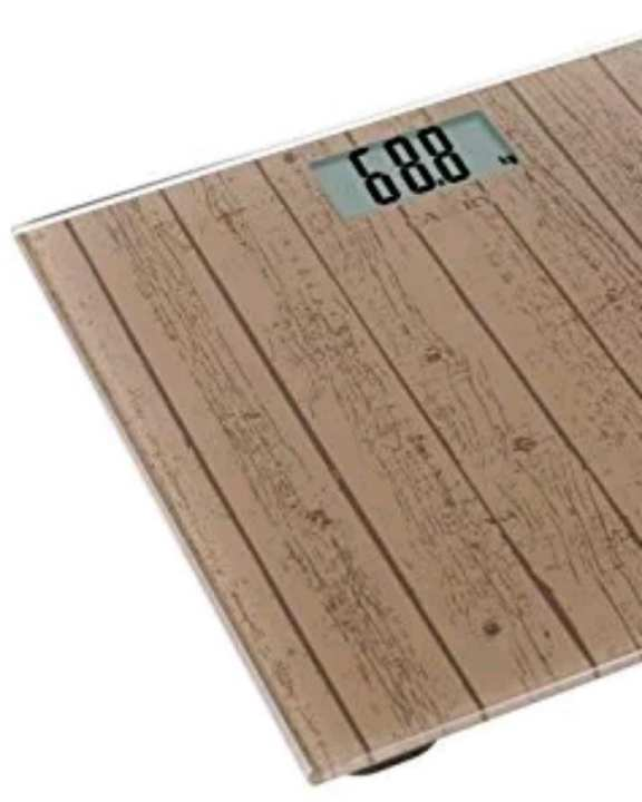 Digital Weight Machine / Body Electronic Wooden Look Glass 1.9 Cm Ultra Slim Health Monitor Scale