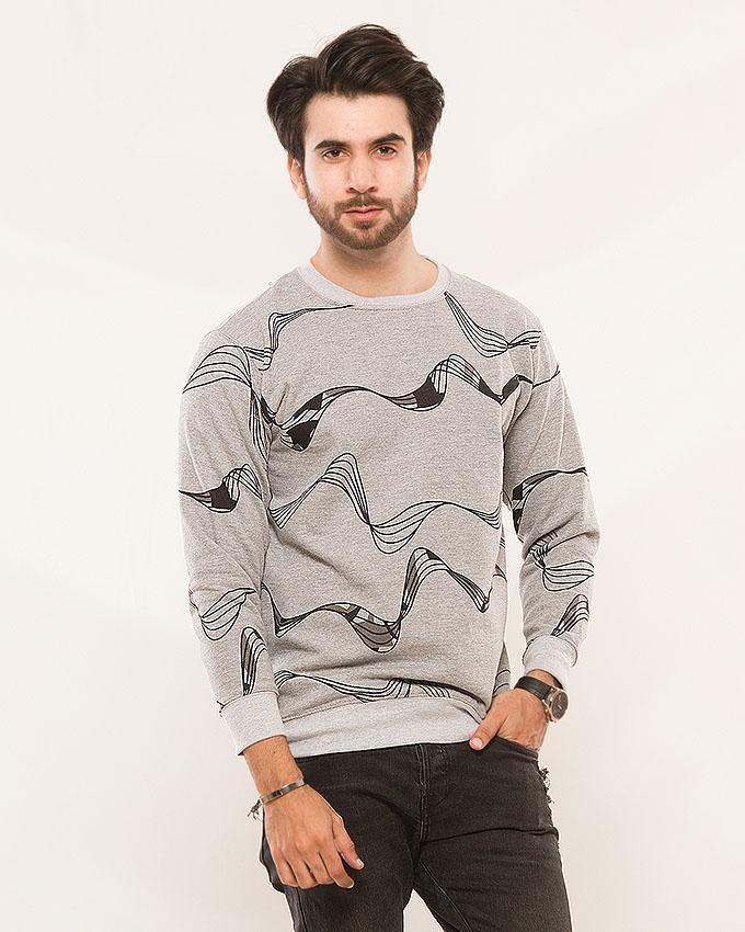 e377c15689 Gray Winter Fleece Sweat Shirt for Men