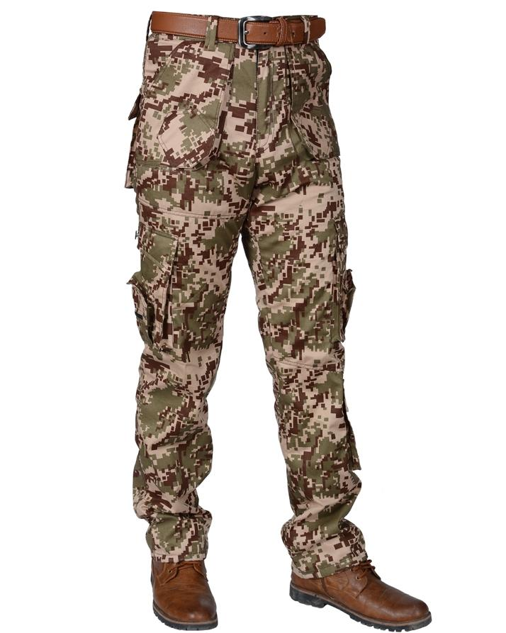 Digital Camo Mens Cargo Pants Army Work Trousers Combat Camouflage Camo Tactical