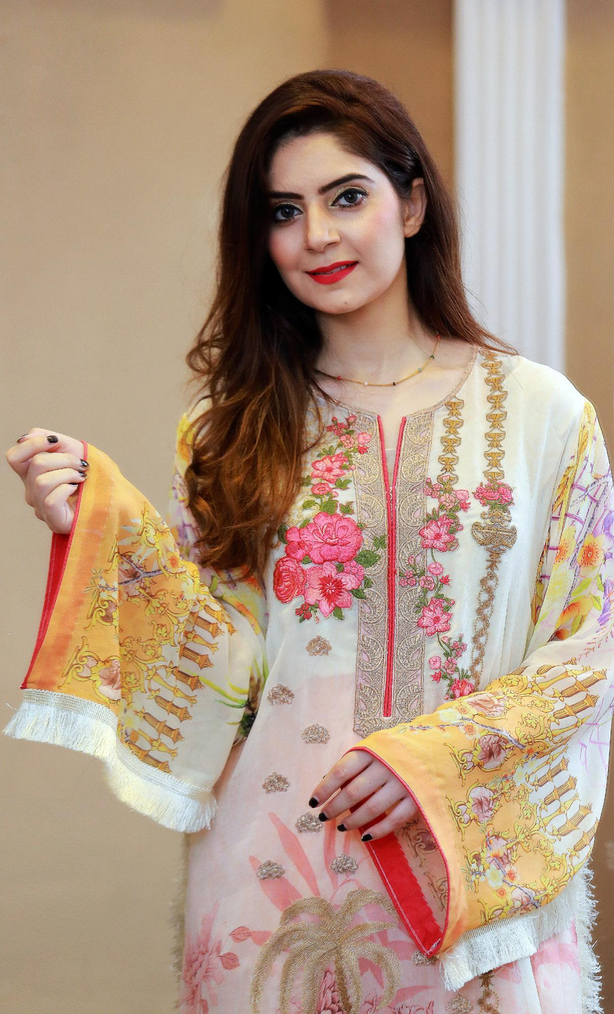 b09235ac36 Alif - Georgette Embroidered Chiffon 007 3pc- UnStitched Suit For Women