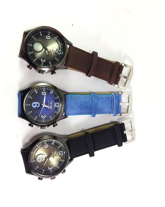 Pack of 3 Jeans Strap Watch For Men