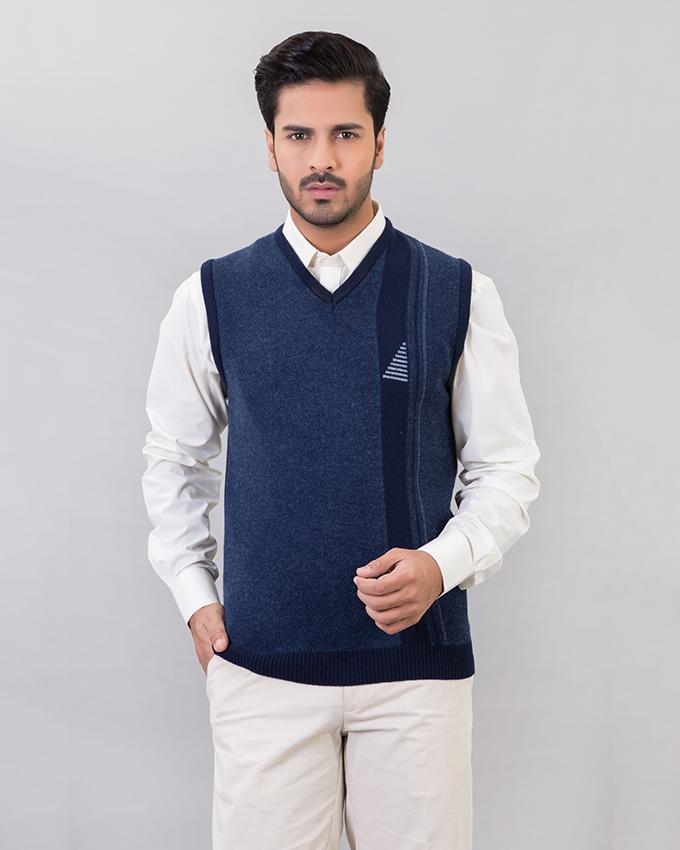Blue Lamb\u0027s Wool Sweater For Men
