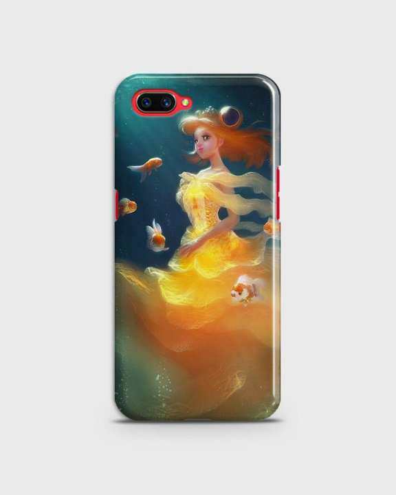 Cover For Oppo A3s Hard Mermaid Style Girl -1cover2823